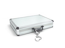 Illustration metal case with handcuffs Royalty Free Stock Photos