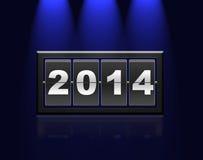 Counter calendar 2014. Stock Photos