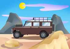 Land rover illustration Royalty Free Stock Images