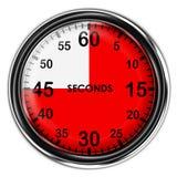 Illustration metallic stopwatch. Illustration metallic stopwatch , 45 second Stock Image