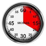 Illustration metallic stopwatch. Royalty Free Stock Images