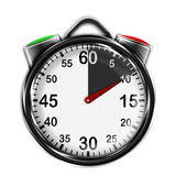 Illustration metallic stopwatch. Royalty Free Stock Photo