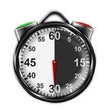Illustration metallic stopwatch. Illustration metallic stopwatch, 30 seconds Stock Photos