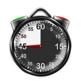 Illustration metallic stopwatch. Royalty Free Stock Photography
