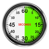 Illustration metallic stopwatch. Illustration metallic stopwatch , 30 seconds Royalty Free Stock Photography