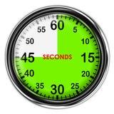 Illustration metallic stopwatch. Illustration metallic stopwatch , 45 seconds Stock Photo