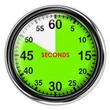 Illustration metallic stopwatch. Stock Photography