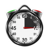 Illustration metallic stopwatch. Illustration metallic stopwatch , 15 seconds Royalty Free Stock Image