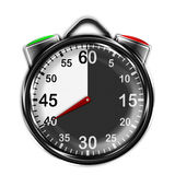 Illustration metallic stopwatch. Royalty Free Stock Photography