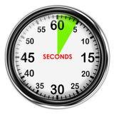 Illustration metallic stopwatch. Stock Photo