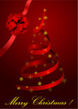 Illustration of a metaphoric red Christmas tree Royalty Free Stock Photos