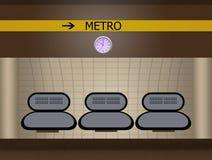 Illustration of metro station Royalty Free Stock Photography