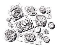 Illustration mexicaine de nourriture Image libre de droits