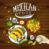 Illustration mexican food Stock Image