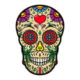 Illustration of mexican sugar skull isolated on white background. Design element for poster, card, t shirt. Vector image royalty free illustration