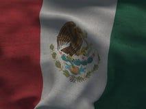 Mexico flag on a fabric basis. Illustration of a Mexico flag on a fabric basis Royalty Free Stock Photos