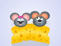 Mice couple in love Royalty Free Stock Photo