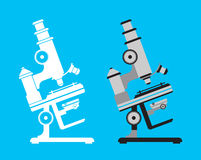 Illustration of microscope. Royalty Free Stock Images