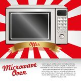 Illustration of a microwave Royalty Free Stock Photography