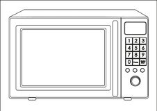 Illustration of a microwave Stock Photography