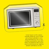 Illustration of a microwave label Stock Images
