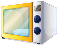 A microwave. Illustration of a microwave on a white background Stock Images