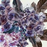 Illustration mignonne avec des fleurs illustration de vecteur