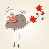 Illustration mignonne d'automne Photo stock