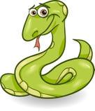 Illustration mignonne de bande dessinée de serpent Photographie stock