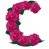 Illustration mignonne de fleur de la lettre C Image libre de droits