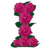 Illustration mignonne de fleur de la lettre I Photo libre de droits