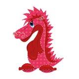 Illustration mignonne de jouet de dragon Photographie stock libre de droits