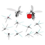 Illustration mignonne de moustique Image libre de droits