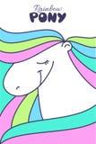 Illustration mignonne de poney Image libre de droits