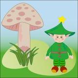 Illustration mignonne de vecteur d'elfe Image libre de droits