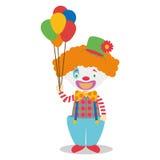 Illustration mignonne de vecteur de bande dessinée d'un clown Image stock