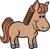 Illustration mignonne de vecteur de cheval Image stock
