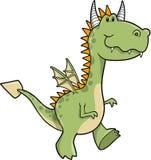 Illustration mignonne de vecteur de dragon