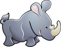 Illustration mignonne de vecteur de rhinocéros Photo libre de droits