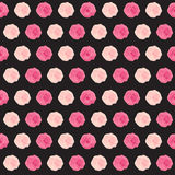 Illustration mignonne de vecteur de Rose Flower Seamless Pattern Background Photo libre de droits