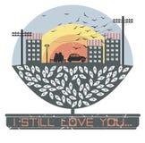 Illustration mignonne pour le jour de valentine Images libres de droits