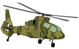 Illustration militaire d'hélicoptère photos libres de droits