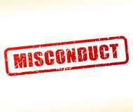 Misconduct text buffered royalty free illustration