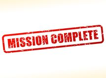 Mission complete text stamp. Illustration of mission complete text stamp Royalty Free Stock Image
