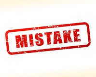 Mistake text buffered. Illustration of mistake text buffered on white background Royalty Free Stock Photography