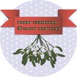 Illustration of mistletoe royalty free illustration