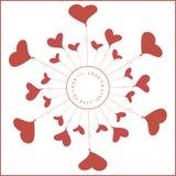 Illustration mit Ballonen in Form von Herzen vektor abbildung