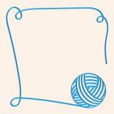 Illustration mit blauer Schlaufe Papercut-Garn Blaue Faser Uns verwendet werden kann Einladungskarte lizenzfreie abbildung