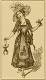 Illustration mit dem Mädchen Lizenzfreies Stockfoto