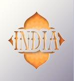 Illustration mit dem Wort Indien Stockbild